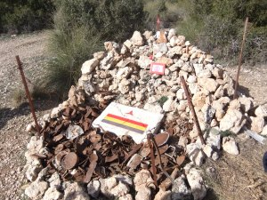 Kit Conway memorial cairn located at the position of the machine-gun company.