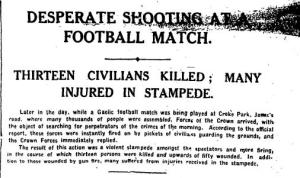 Irish Times, Saturday 27 November 1920