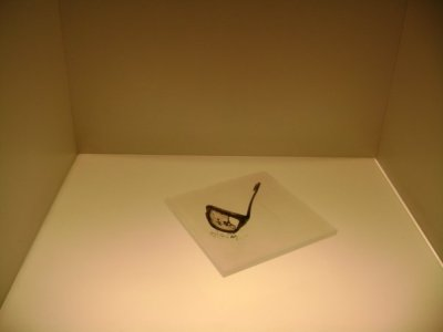 Allende's glasses, discovered in the ruins of La Moneda. Author's photo.